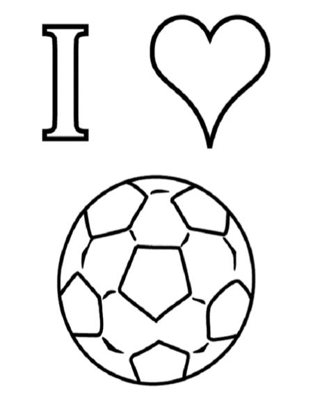 Ik Houd Van Voetbal Kleurplaat Klaarwerk Nl Knutselen Sport Voetbal Tekenen Kleurplaten