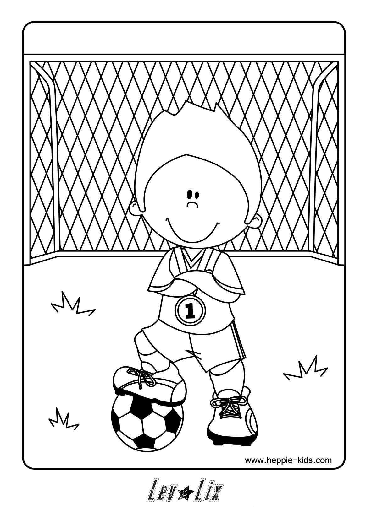 Kleurplaat Voetbal Voetbal Vaderdag Knutselen Voetbal Kleurplaten