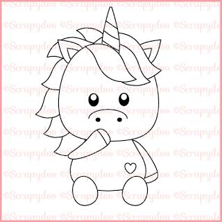 Scrapydoo Unicorn Eenhoorn
