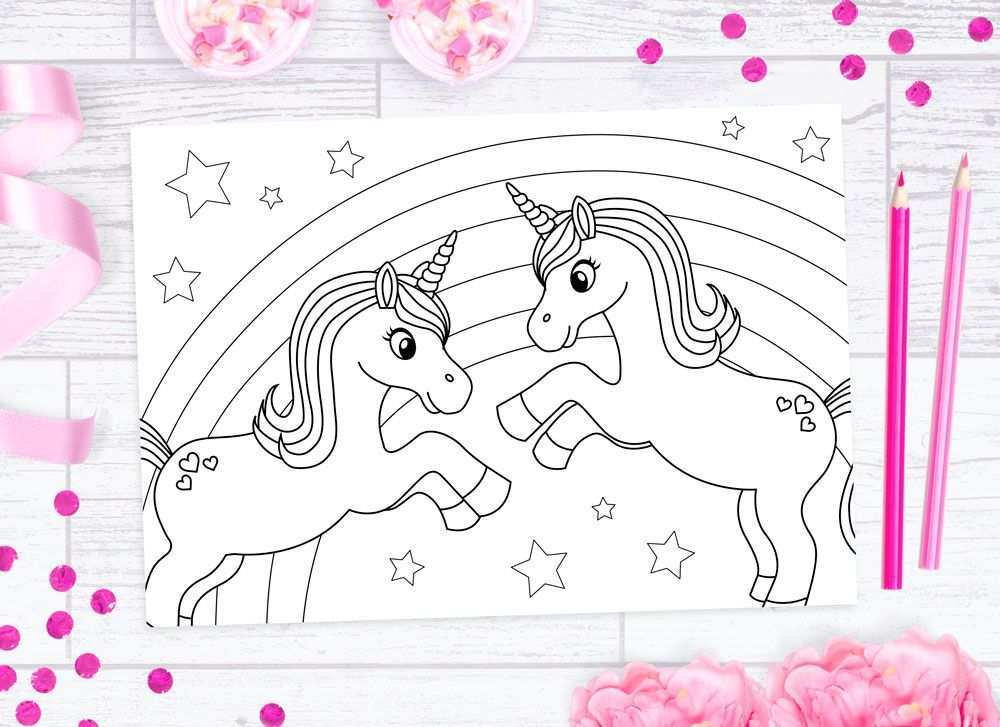 Gratis Printable Kleurplaat Eenhoorns Freubelweb Unicorn Coloring Pages Coloring Pictures Colouring Printables
