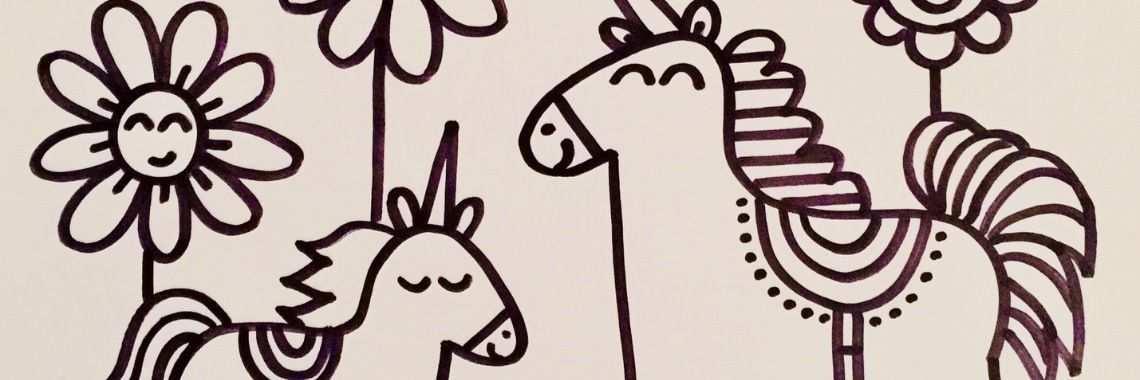 Kleurplaten Eenhoorns Unicorns Kleurplaten Eenhoorn Sterretjes