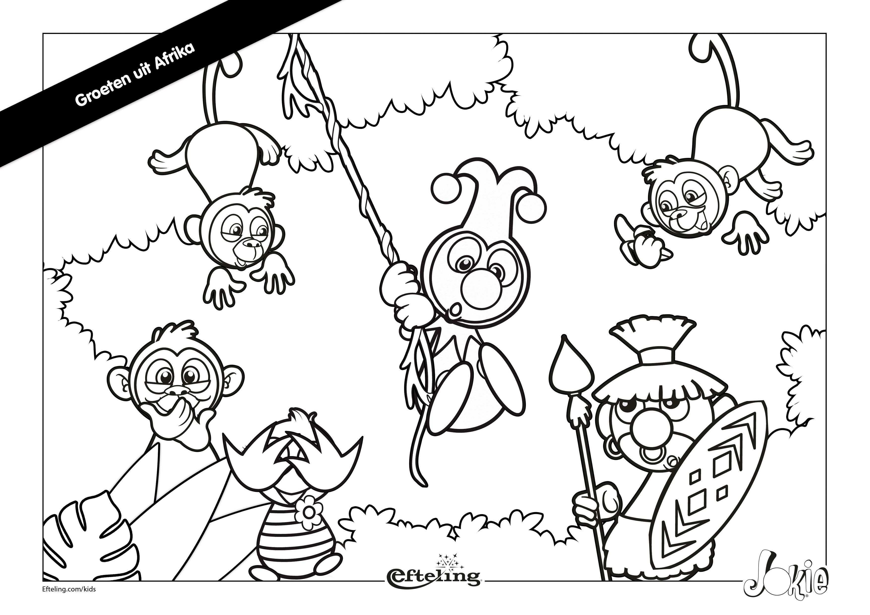 Efteling Kleurplaat Jokie In Afrika Kleurplaten Kinderkleurplaten Kleurplaten Voor Kinderen