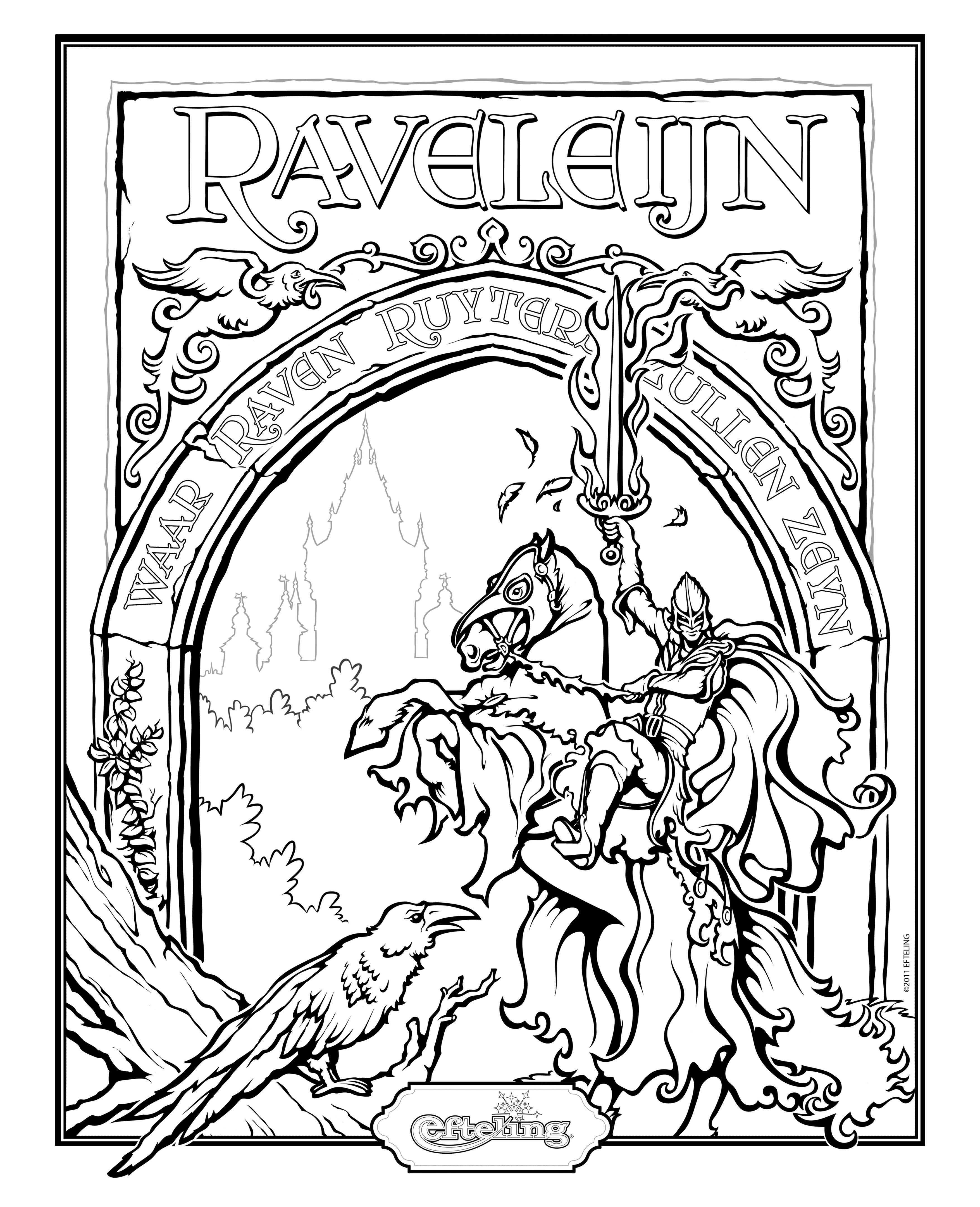 Kleurplaten Efteling Raveleijn