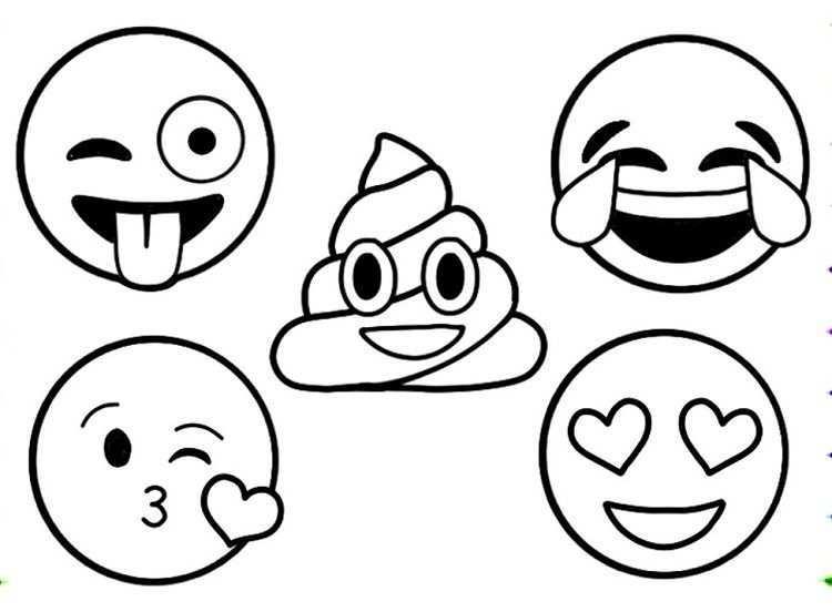 Emoji Coloring Pages To Print Coloriage Emoji Coloriage Pokemon Coloriage Licorne A Imprimer
