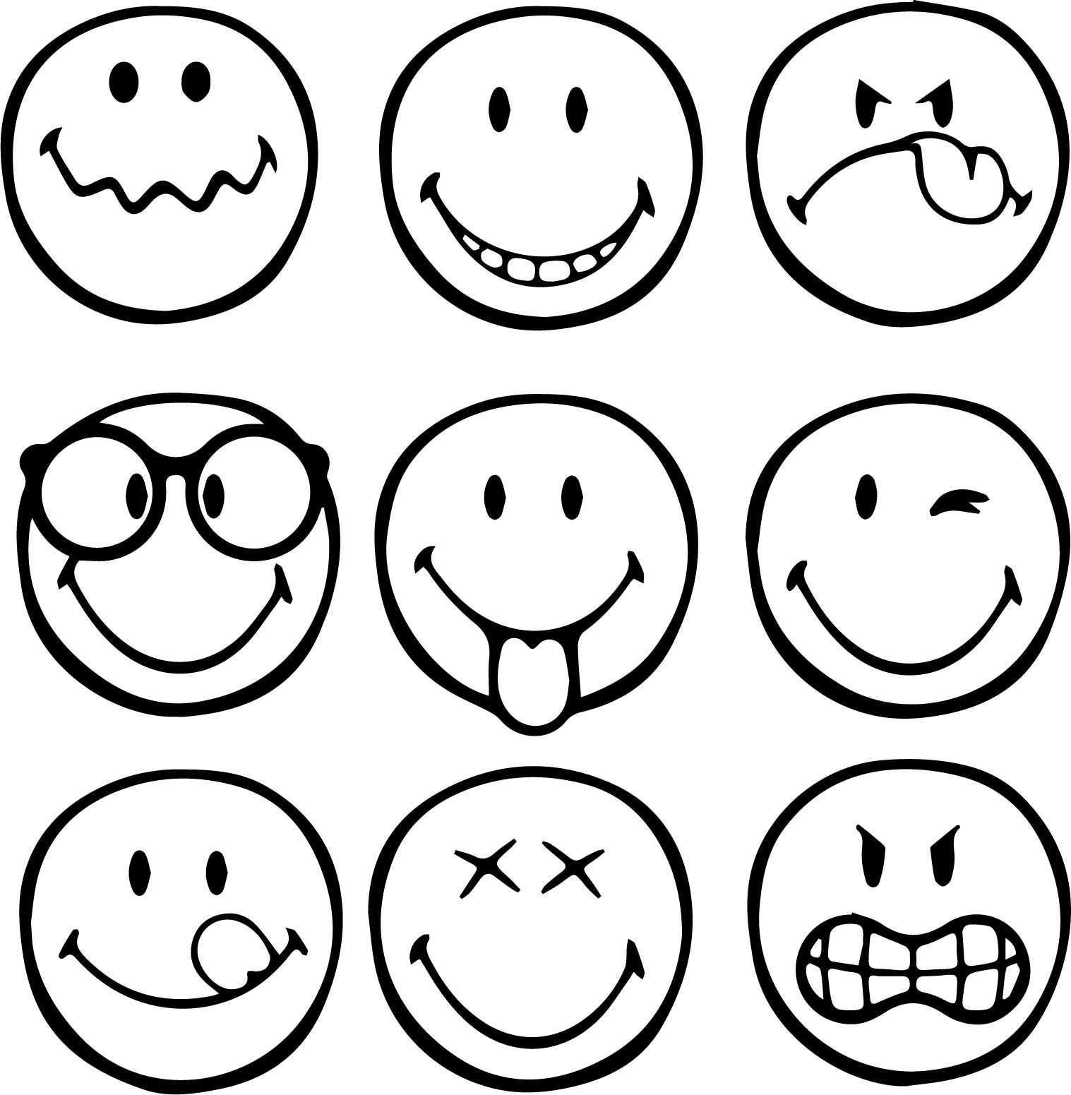 Nice First Graphical Emoticons Smiley Coloring Page Mini Drawings Art Drawings For Kids Doodle Drawings