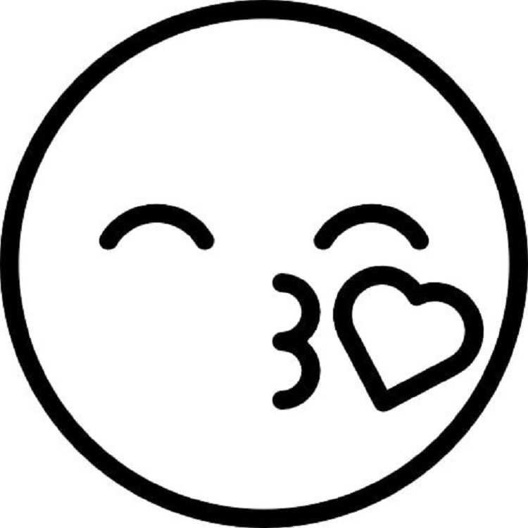 Kiss Emoji Coloring Pages Emoji Tekening Emoji Tekenen Gemakkelijk