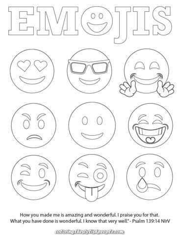 Emojis Bible Verse Coloring Web Page Free In 2020 Emoji Tekening Kleurplaten Emoji
