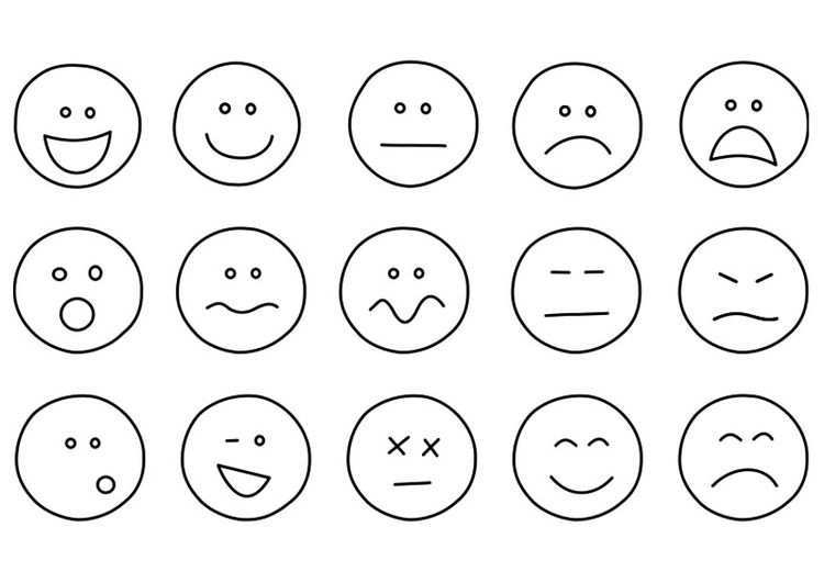 Coloring Page Emotions Emoji Coloring Pages Emotion Faces Feelings And Emotions