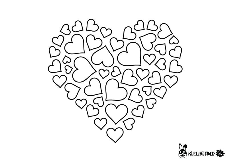 Kleurplaat Hart Valentijn Moederdag Vaderdag Valentijnen Verliefd Vaderdag