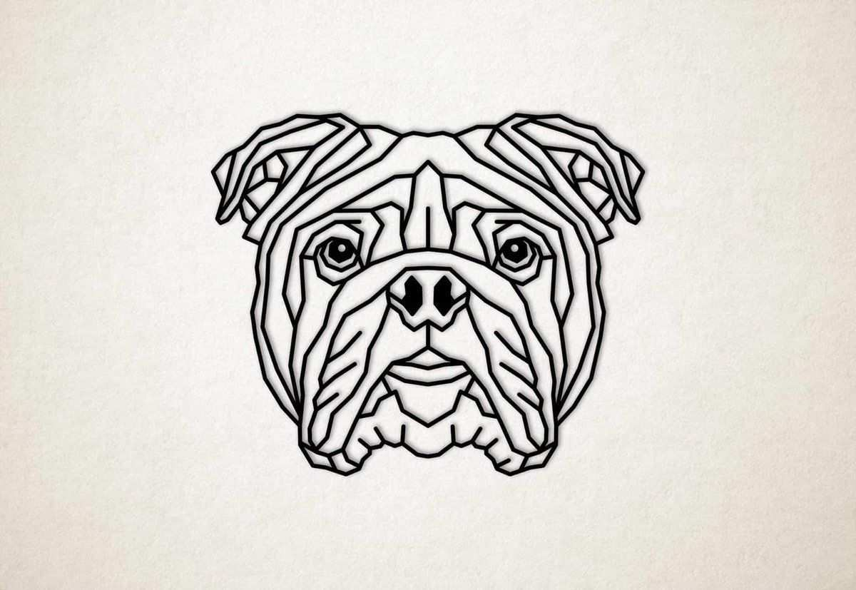 Kleurplaten Engelse Bulldog