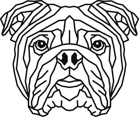 Engelse Bulldog Geometrisch Hout 50 X 60 Cm Black Honden Wanddecoratie Bulldog Honden Hond Ambachten