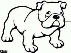 Desene De Colorat 01 Catei De Colorat Dog Coloring Page Puppy Coloring Pages Bulldog Drawing