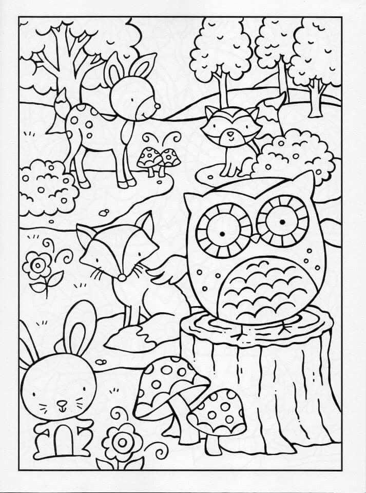 Kleurplaat Bos De Kindertijd Is Een Magische Periode Waarin Fantasie Centraal Staat Dat Heeft Ons Geinspi Kleurplaten Herfstwerkjes Herfst Knutselen Kinderen