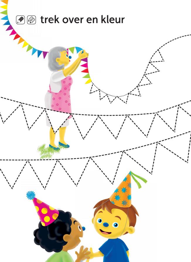 Kleurplaat Voor Kleuters Knutselen Thema Feest Verjaardagskalender Knutselen Kleuterschool Thema