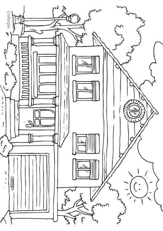 Kleurplaat Huis Buitenkant Gratis Kleurplaten Om Te Printen Diagram Derivative