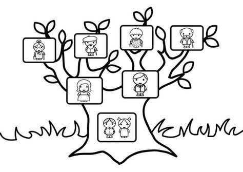 Kleurplaat Stamboom Met Familie Tree Coloring Page Coloring Pages Family Tree