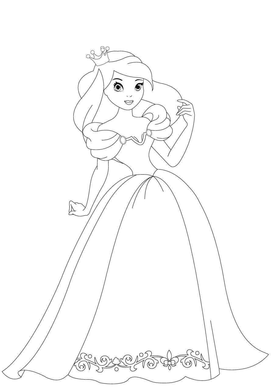 Kleurplaat Prinses Kleurplaten Prinses Knutselen