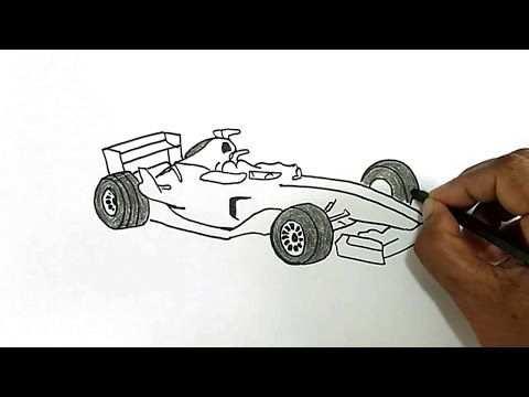 How To Draw A Formula 1 Car Formula 1 Car Drawings Car Drawings