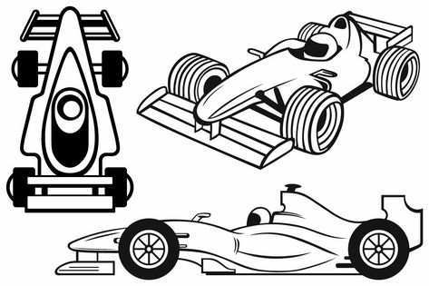 Racing Cars Raceauto Silhouet Cameo Silhouet