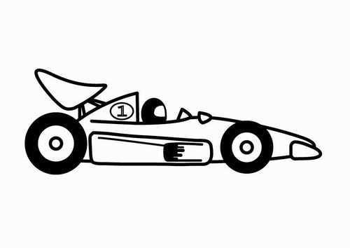 Coloring Page F1 Racing Car Img 24110 Raceauto Kleurplaten Afbeeldingen