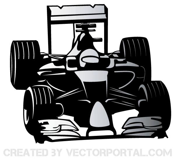 Formula One Car Vector Afbeeldingen