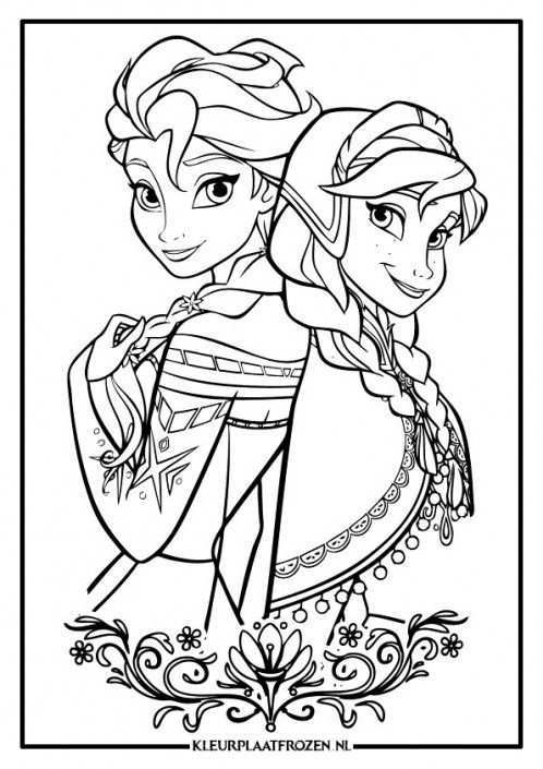 Anna En Elsa Kleurplaat Frozen 2 Frozen Kleurplaten Boek Bladzijden Kleuren Kleurplat