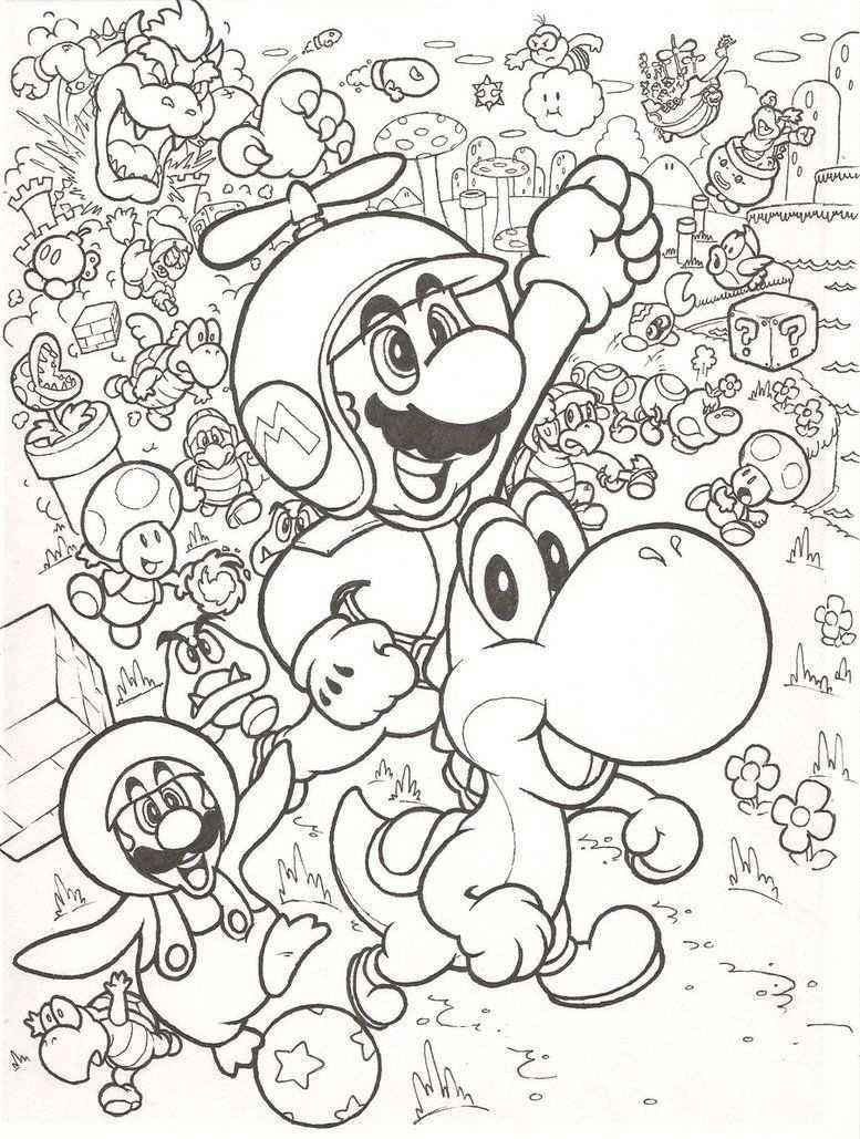 Leuke Kleurplaat Met Mario Abstracte Kleurplaten Kleurplaten Mandala Kleurplaten