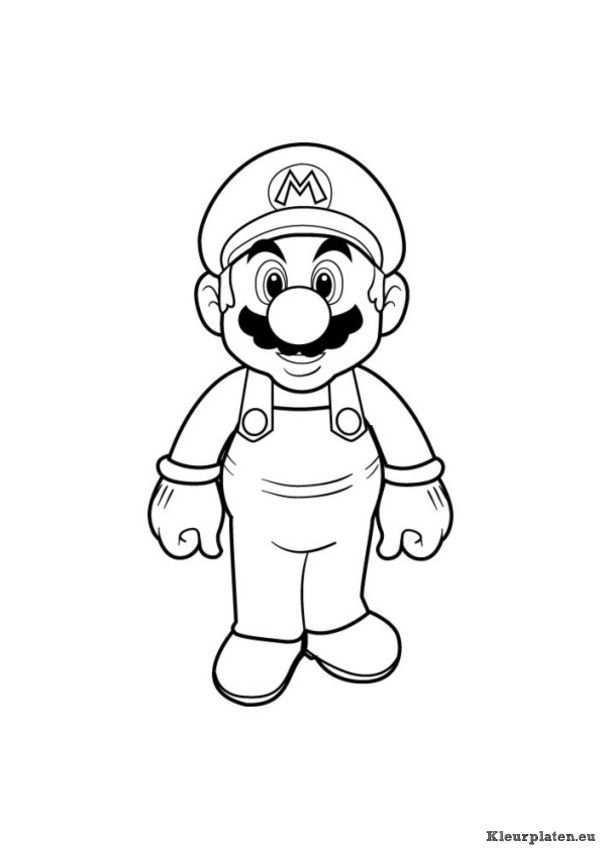 Super Mario Bros Kleurplaat 94533 Kleurplaat Kleurplaten Dingen Om Te Tekenen Mario