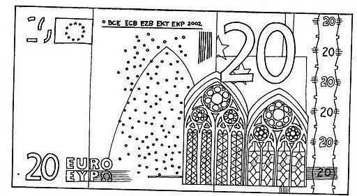 Biljet Van 20 Euro Nepgeld Groene Kerst Geld