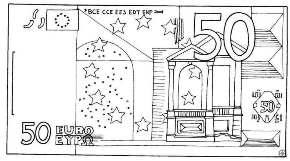 Biljet Van 50 Euro Groene Kerst Kleurplaten Ideeen