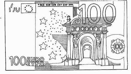 Biljet Van 100 Euro Groene Kerst Kleurplaten Doe Het Zelf
