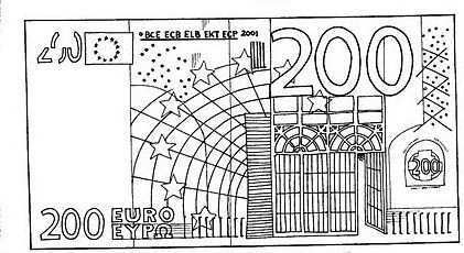 Biljet Van 200 Euro Euro Diagram Van