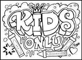Afbeeldingsresultaat Voor Graffiti Letters Kleurplaten Kleuren Thema