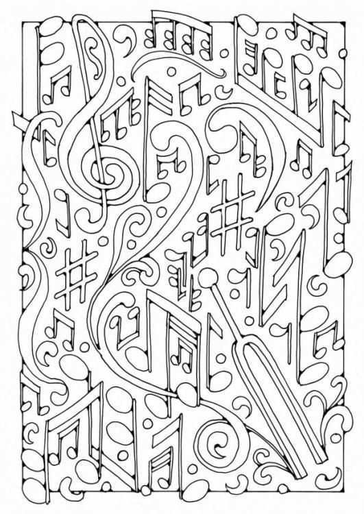 Coloring Page Music Img 18438 Music Coloring Sheets Music Coloring Music Notes