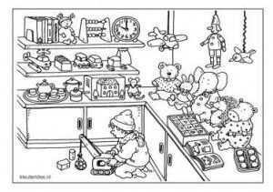 Kleuteridee Kleurplaten Speelgoedwinkel Kleurplaten Speelgoed