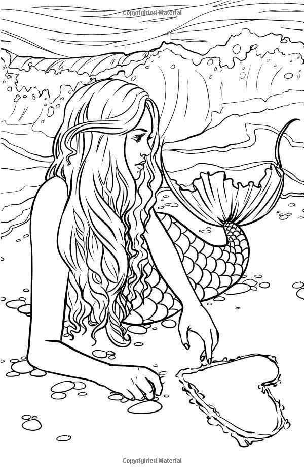 Pin Van Angie Rocio Op Sirenas Kleurplaten Kleurboek Zeemeerminkunst