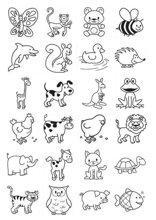 Kleurplaat Icoontjes Voor Kleuters Afb 20783 Gratis Kleurplaten Krabbel Kunst Tekeningen Dieren Kleurplaten