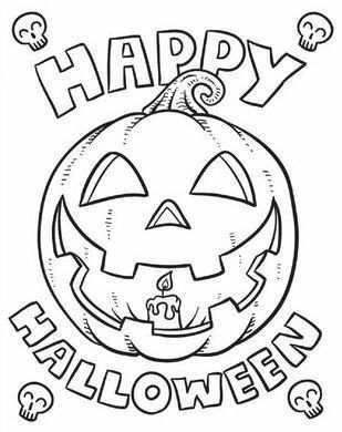 Happy Halloween Coloring Page Free Halloween Coloring Pages Halloween Coloring Sheets Pumpkin Coloring Pages