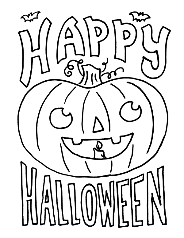 Happy Halloween Coloring Pages For Kids Halloween Coloring Pictures Halloween Coloring Pages Halloween Coloring Pages Printable