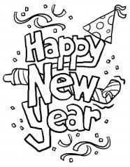 Kleurplaat New Year Coloring Pages New Year Clipart New Year S Eve Crafts
