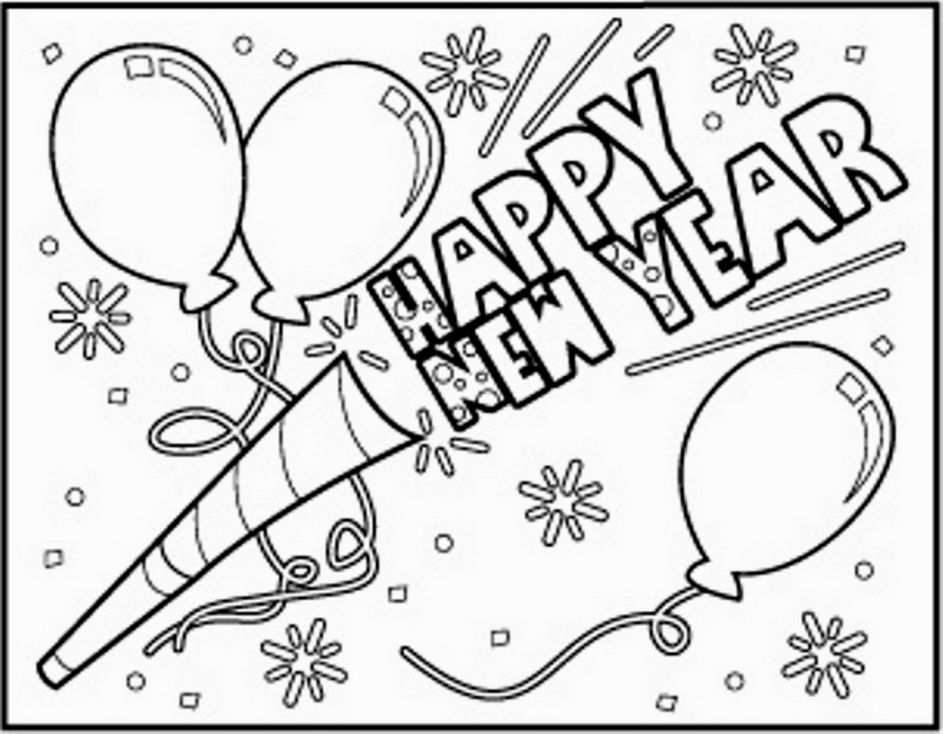 New Year Printable Coloring Pages Murales Escolares Manualidades Periodico Mural