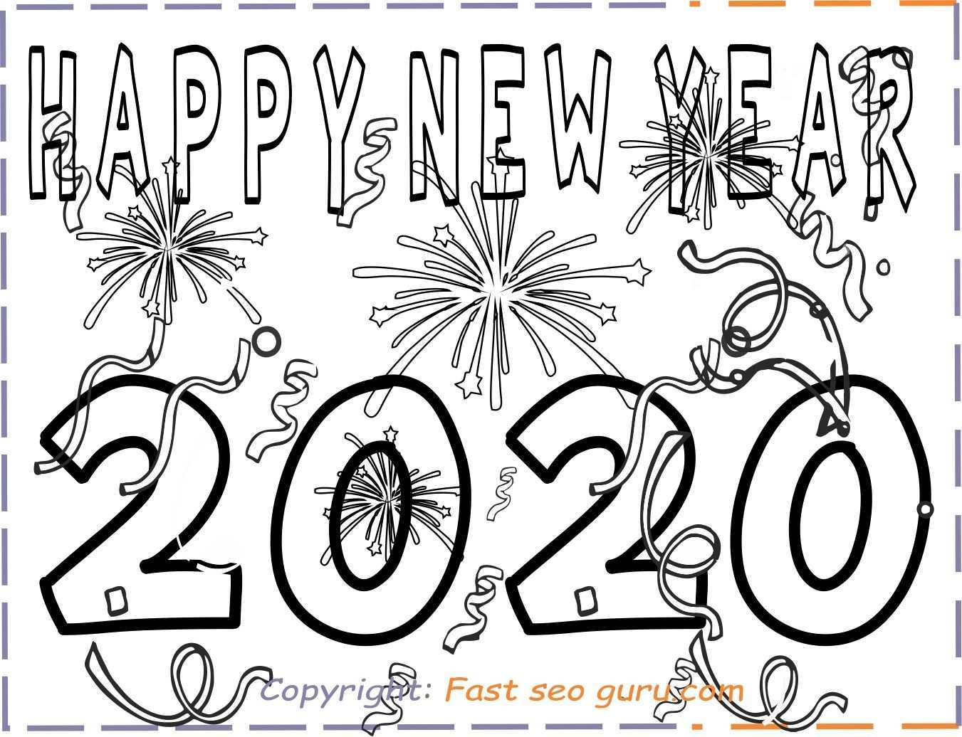 Printable Happy New Year 2020 Coloring Pages New Year Coloring Pages New Years Activities Coloring Pages For Kids