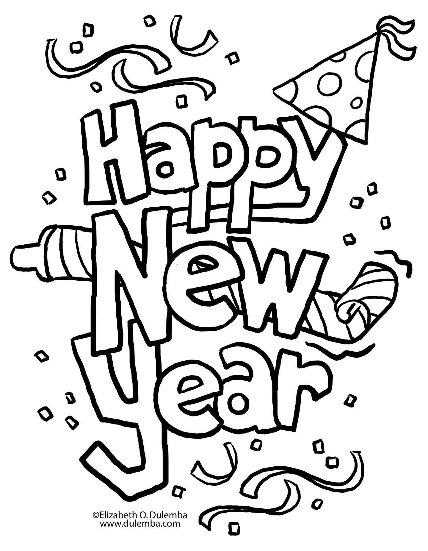 A New Twist On New Year S Eve A Little Tipsy New Year Coloring Pages New Year Clipart New Year S Eve Crafts