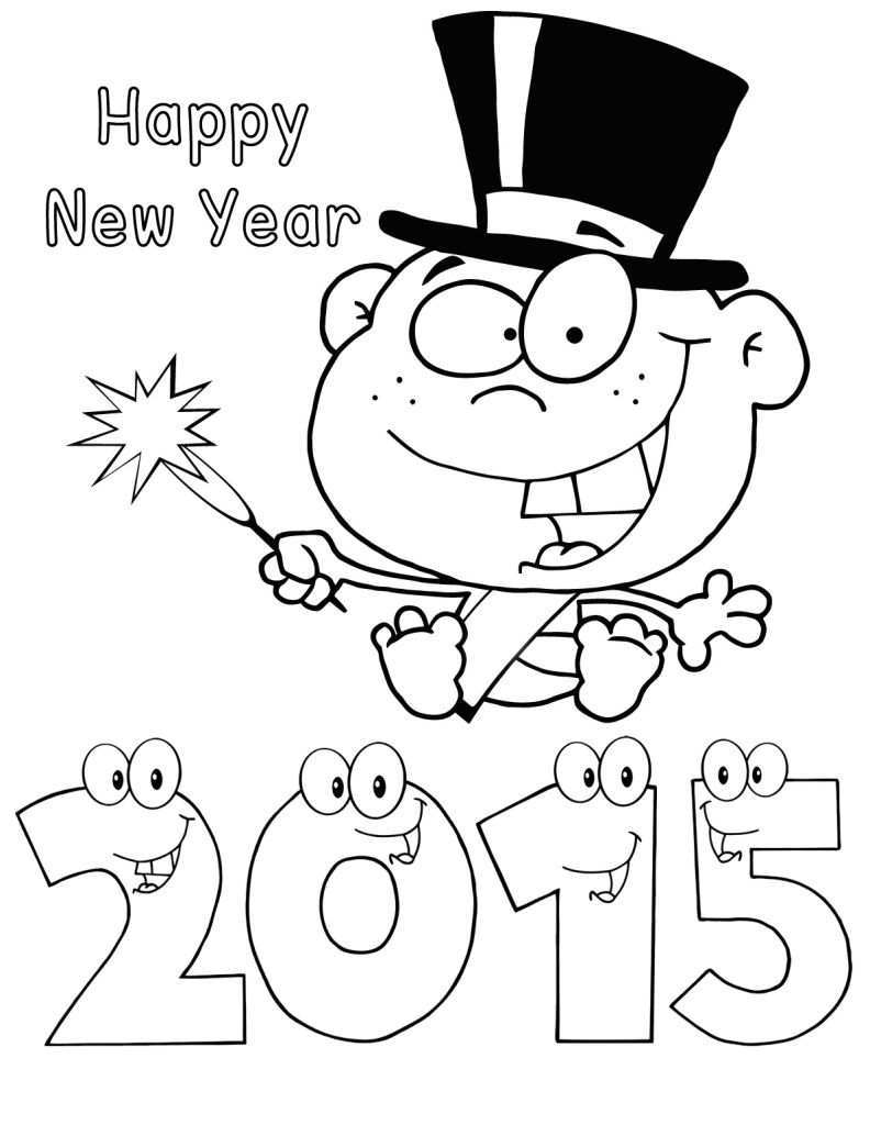 Happy New Year 2015 Baby Colouring Pages Coloring Guru New Year Coloring Pages Baby Coloring Pages Coloring Pages