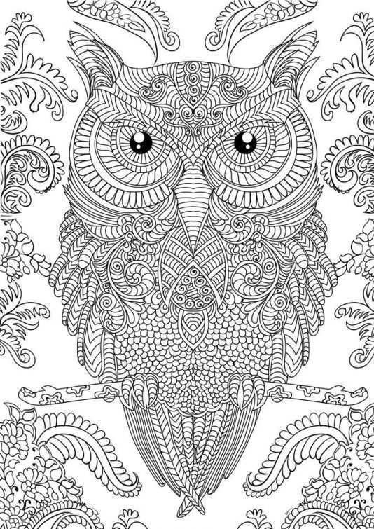Owl Doodle Art Hard Coloring Page Free To Print For Grown Ups Letscolorit Com Owl Coloring Pages Animal Coloring Pages Abstract Coloring Pages