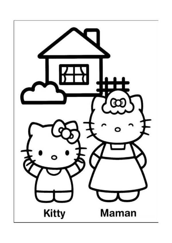 Hello Kitty Malarbilder 6 Hello Kitty Kisse Malarbocker