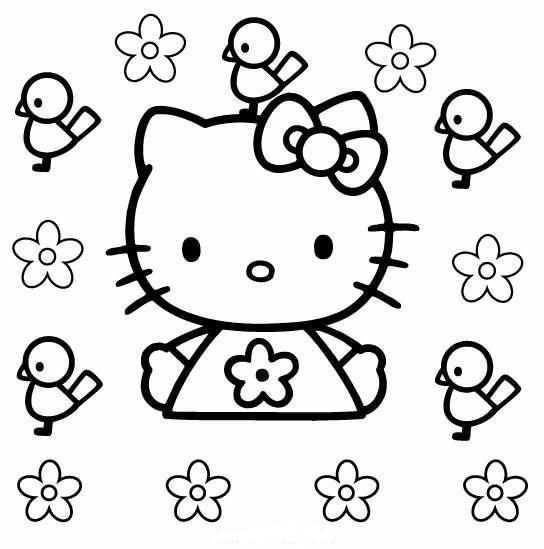Kleurplaat Kleurplaten Gratis Kleurplaten Hello Kitty