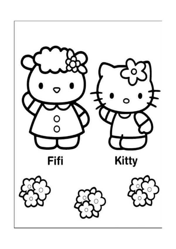 Hello Kitty Malarbilder 15 Hello Kitty Kisse For Barn
