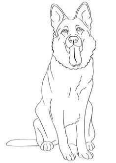 German Shepherd Dog Buzzle Com Printable Templates Puppy Coloring Pages Dog Coloring Book Dog Coloring Page