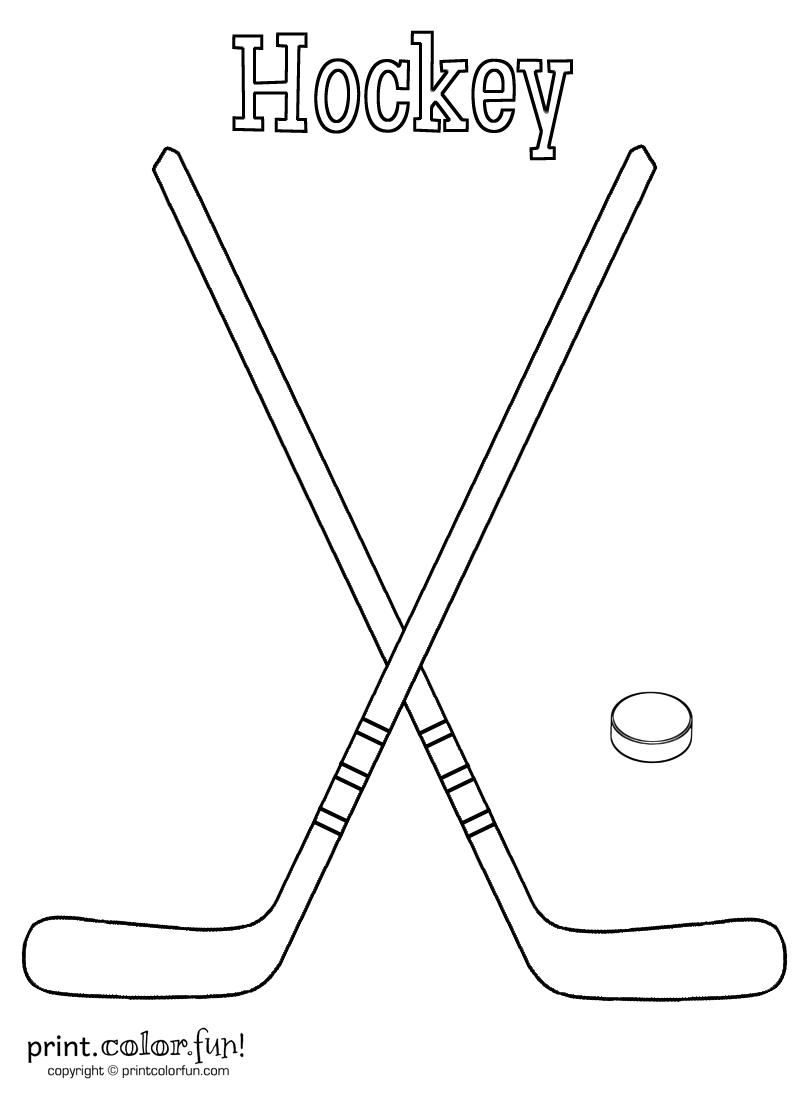 Printable Hockey Color Sheet Hockey Stick Hockey Cakes Hockey Valentines